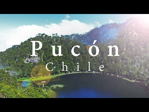 Pucon | Chile | Villarrica | 4k | Drone | National Park | Termas | Waterfall | Volcano