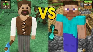 """""""MINECRAFT POCKET EDITION VS SURVIVAL CRAFT 2"""" (MCPE, SurvivalCraft, Mobile Games, iOS, Android)"""