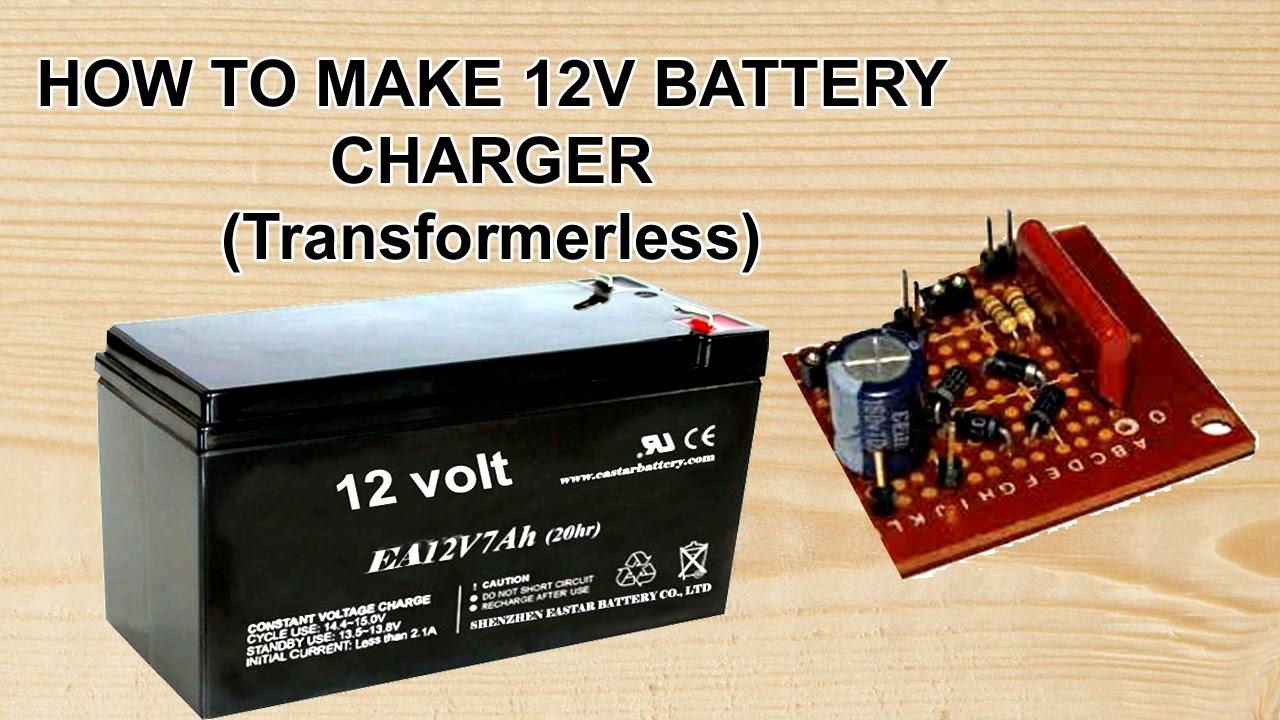 transformerless power supply  12 volt charger