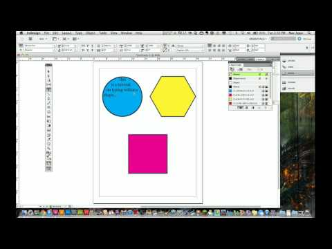 Adobe Indesign CS5 Tutorial - How to Place Text In Shapes
