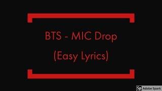 BTS - MIC Drop Easy Lyrics Mp3