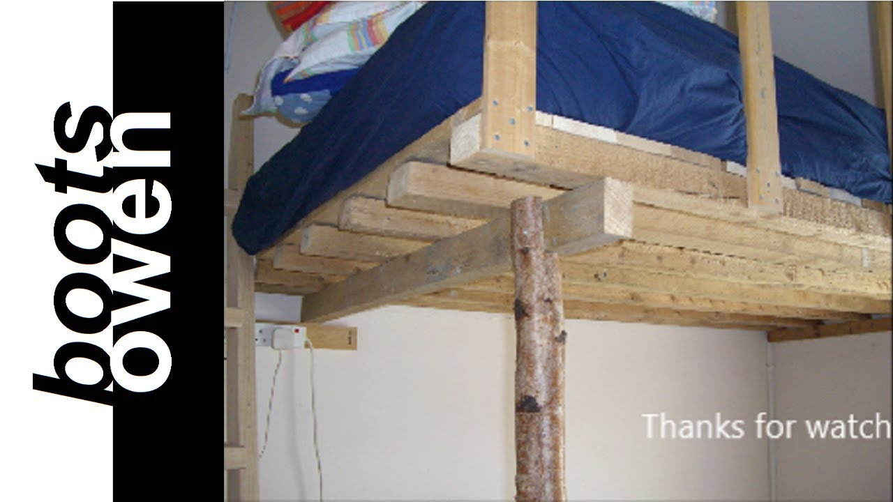 Pallet loft bed: how to - YouTube