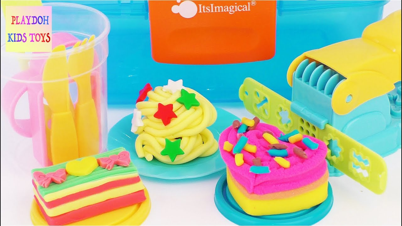 Plasty Play Sweets ItsImagical Modelling Playdough Cooking Playset ...
