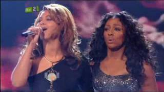 X Factor 2008 - Alexandra Burke and Beyonce Knowles - Listen (High Quality)
