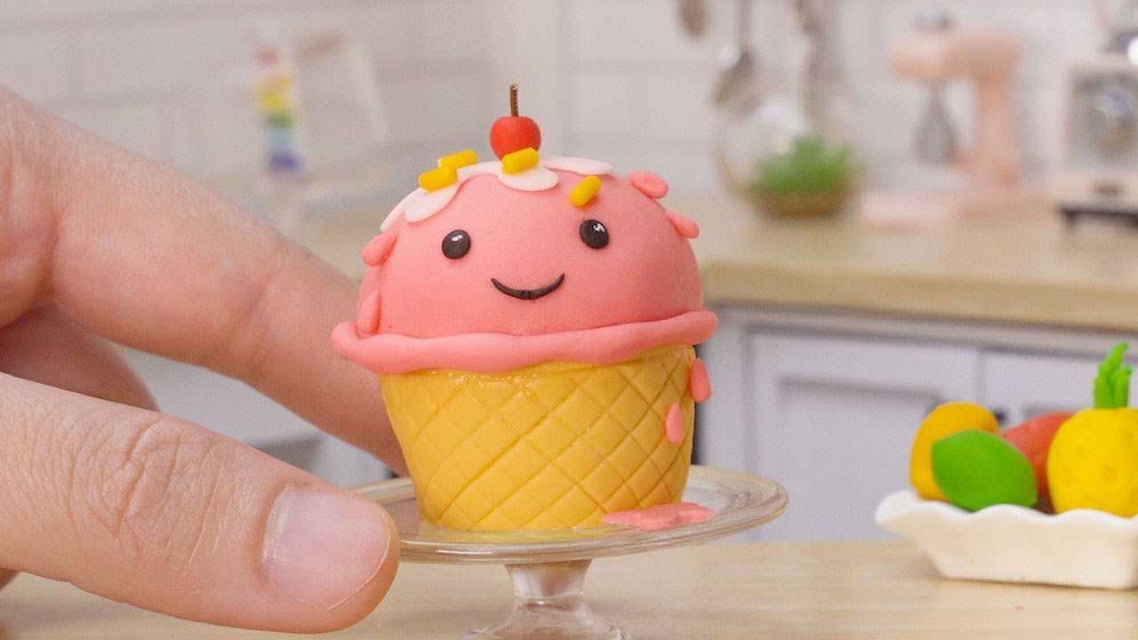 Satisfying Miniature Ice Cream Cake Decorating   Cute Miniature Cake Design by Tiny Cakes