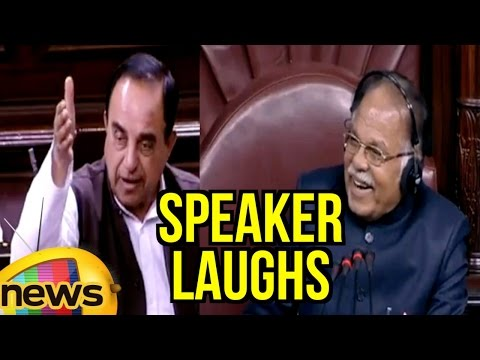 RS Speaker Laughs After Subramanian Swamy Clarifies On Ramgopal Yadav False Statement | Mango News
