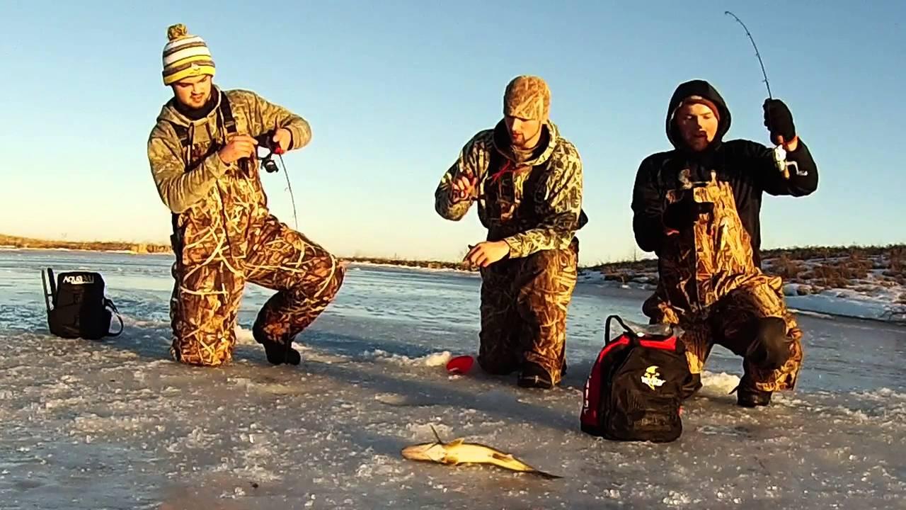 South dakota ice fishing youtube for Ice fishing south dakota