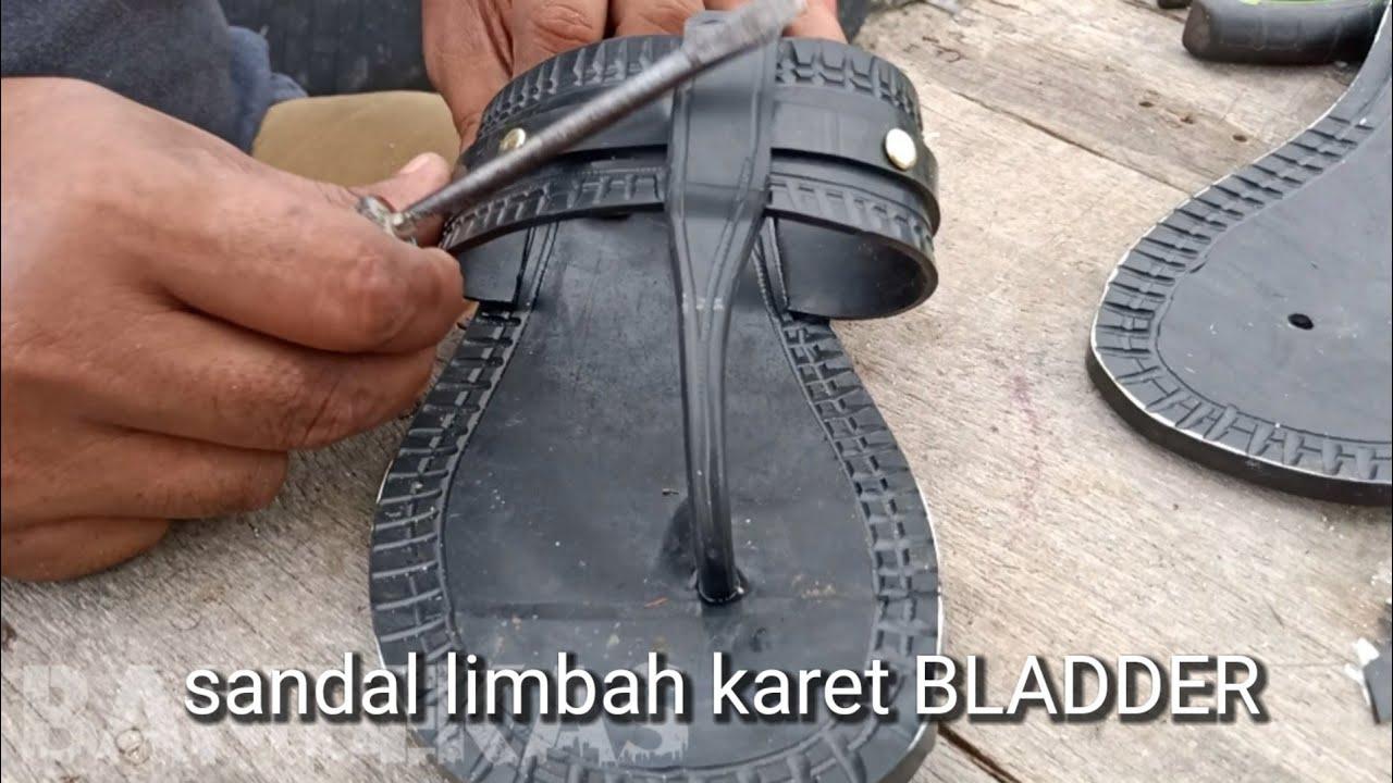 Membuat sandal si Pitung dari karet BLADDER
