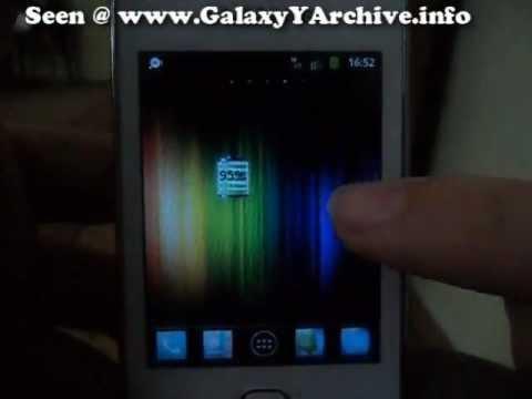 Jelly Bean Theme on Samsung Galaxy Y