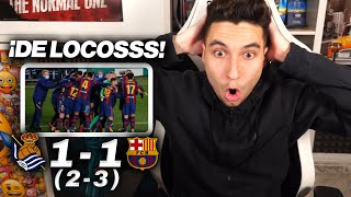 REACCIONANDO al Real Sociedad vs Barcelona 1-1 (2-3)