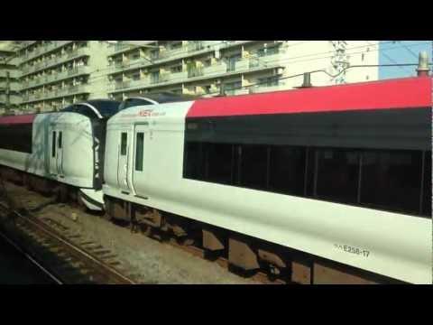 NEX Narita Express Airport train to Narita, spotted @ Kanagawa, Yokohama south of Tokyo, Japan