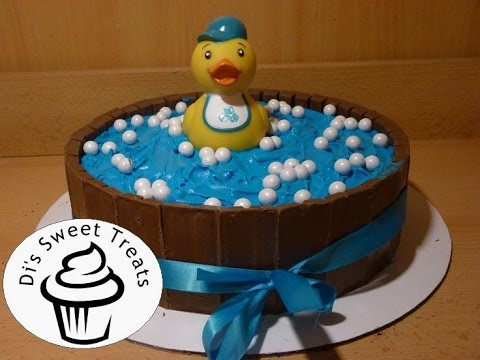 Beautiful Baby Shower Cake  Kit Kat Rubber Ducky Cake  Diu0027s Sweet Treats