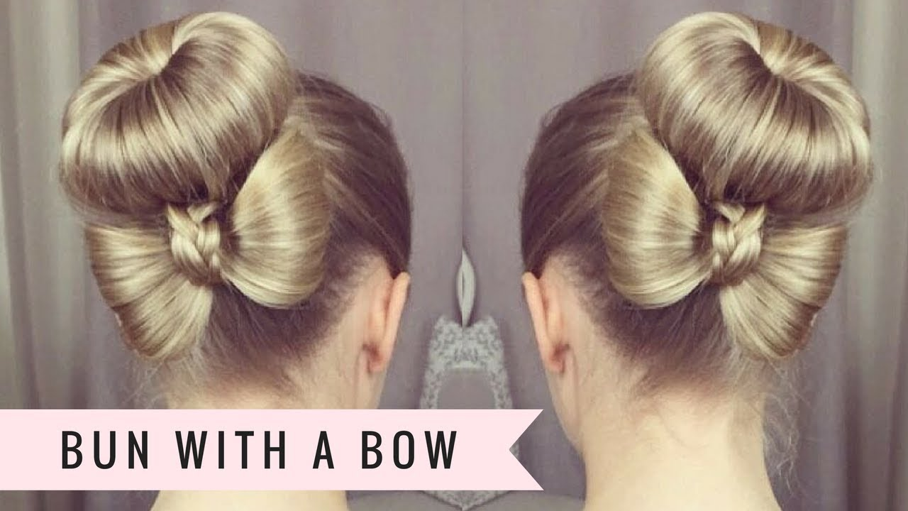 Bun With A Bow By Sweethearts Hair Youtube