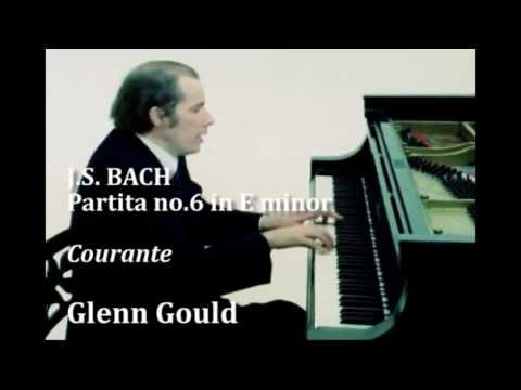 Glenn Gould - J.S. BACH, Partita no.6 in E minor, Courante (3/7)