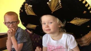 Lydia's birthday song at the Mexican restaurant