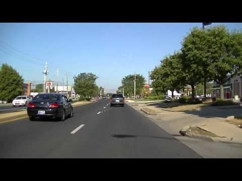 Driving 86th Street in Indianapolis, Indiana