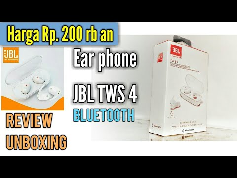 Unboxing Earphone Bluetooth Jbl Tws4 Seharga Rp 200 000 An Youtube