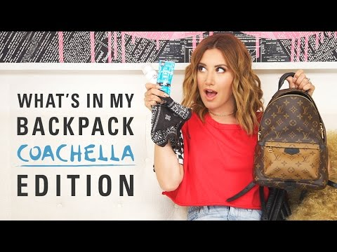 What's in my backpack? Coachella Edition  Ashley Tisdale