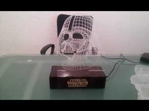 de base madra MDF 3D acrilico en sublimada lampara grabado y nwmNv80