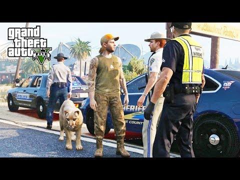 GTA 5 Roleplay | DOJ #107 - (CIV) Man and Mountain Lion