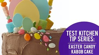 Easy Easter Cake: Easter Candy Kabobs