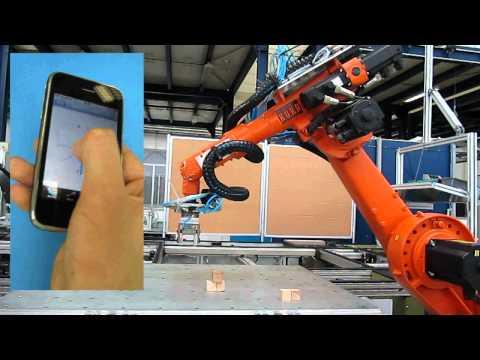 iPhone Industrial Robot Control - KUKA KR 6