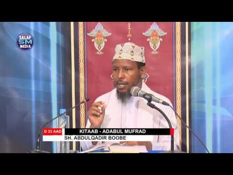 Adabul Mufrad || D 33 aad || Sh Abdulqadir Boobe