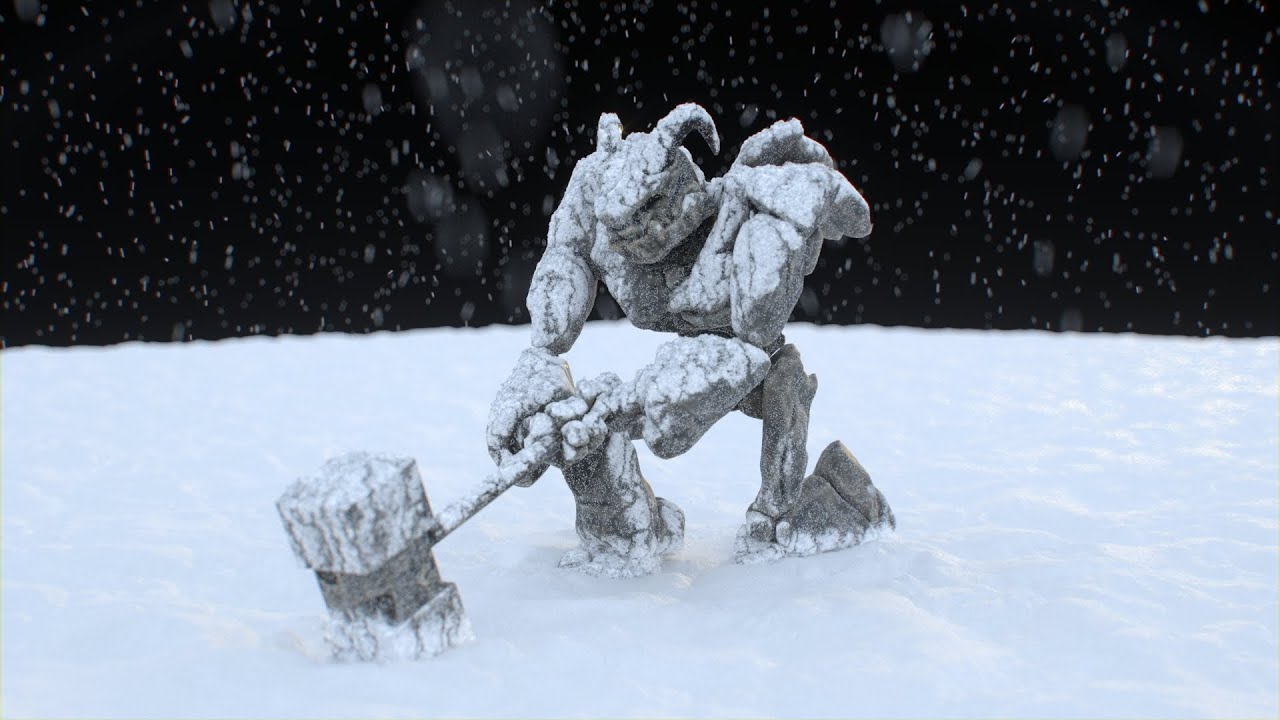 Snow surface cover (Houdini)