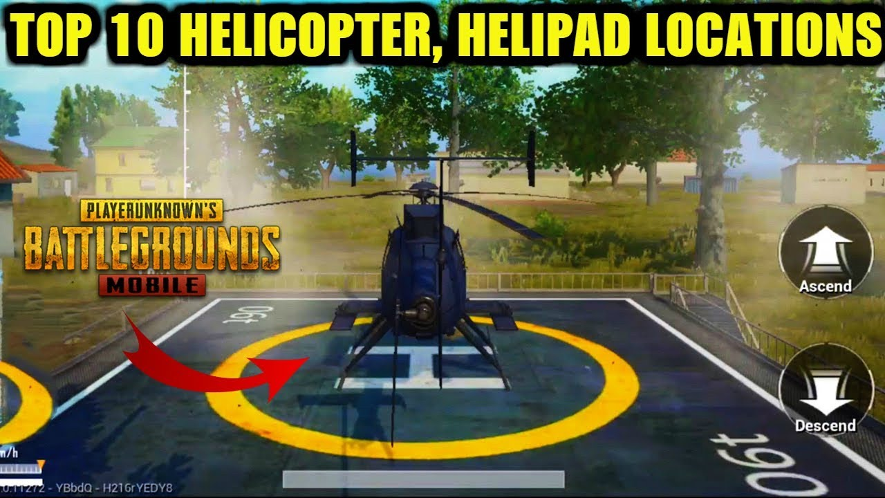PUBG Mobile Payload Mode : Top 10 Helicopter Locations | Helipad Locations | How to get helicopter