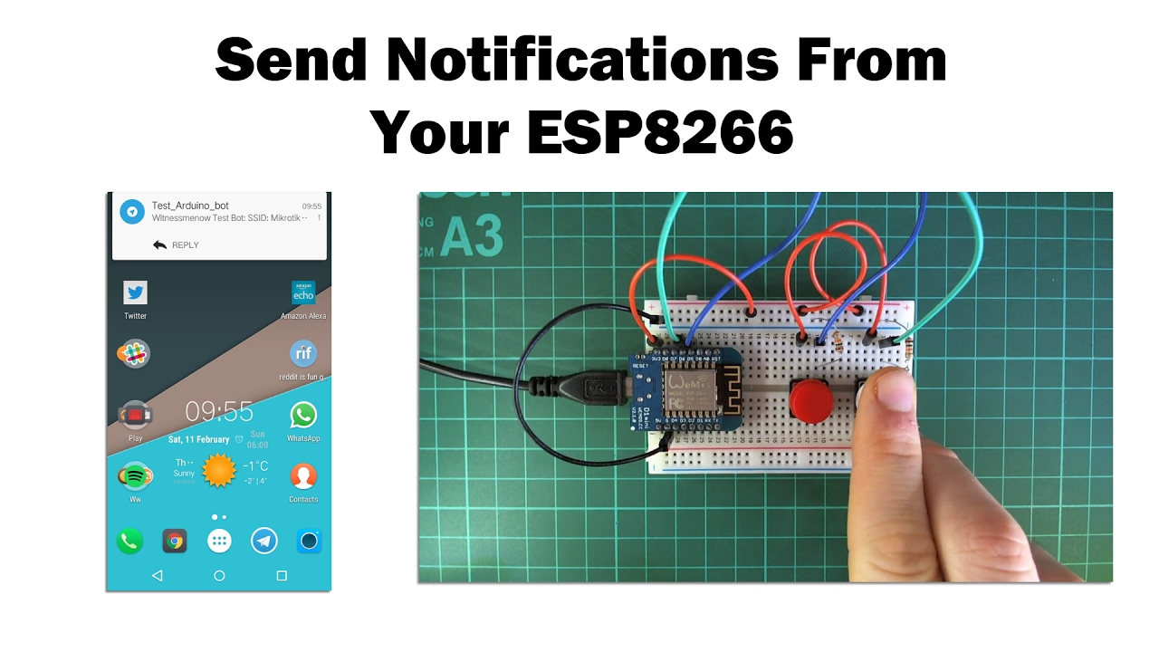 Send Notifications to Your Phone From an ESP8266: 3 Steps