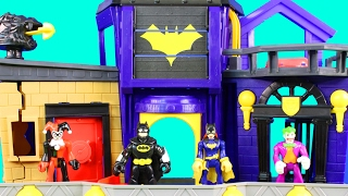 imaginext batgirl city playset with harley quinn joker batman and batgirl jammin to boombox music