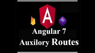 auxilory router outlet in angular 7