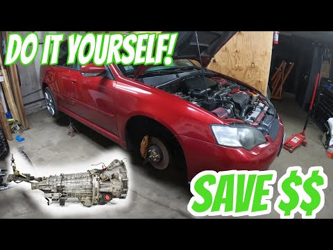 DIY Subaru Legacy/WRX/STI Transmission Replacement in UNDER 10 MINUTES!