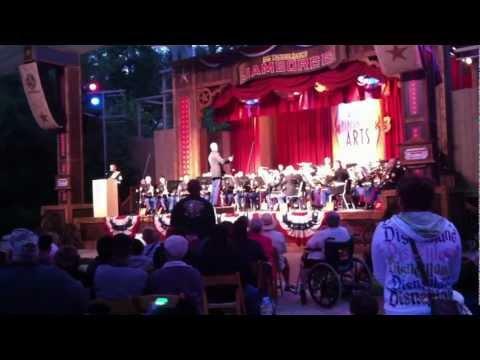 3rd Marine Aircraft Wing Band playing service hymns at Disneyland