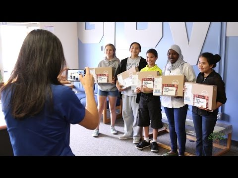 Nine Glover Middle School students receive laptops