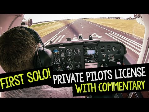 MY FIRST SOLO FLIGHT PPL STUDENT WITH COMMENTARY FROM DUXFORD UK