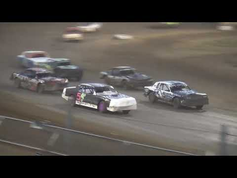 IMCA Stock Car feature Independence Motor Speedway 8/18/18
