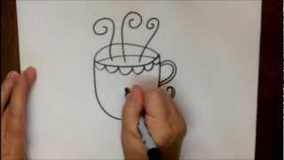 How to Draw a Coffee Cup Step by Step Easy Drawing Lesson