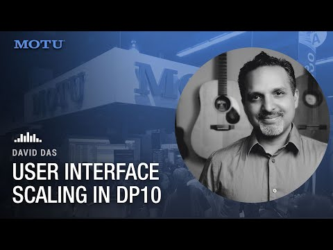 User interface scaling in DP10