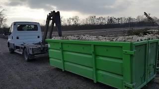 Iveco Daily  50c150  hakowiec  hks 4 skibicki wciaga 4tony drewna świeżej topoli 7m3 kontener kp-7