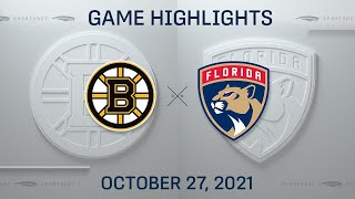 NHL Highlights   Bruins vs. Panthers - Oct. 27, 2021