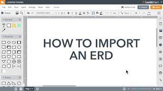Lucidchart الدروس - الاستيراد عن ERD