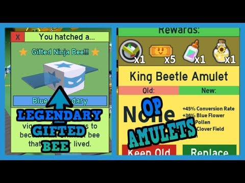 LEGENDARY GIFTED BEE -MOON AMULET-  KING BEETLE AMULET - GIFTED EGG - Bee Swarm Simulator Test Realm