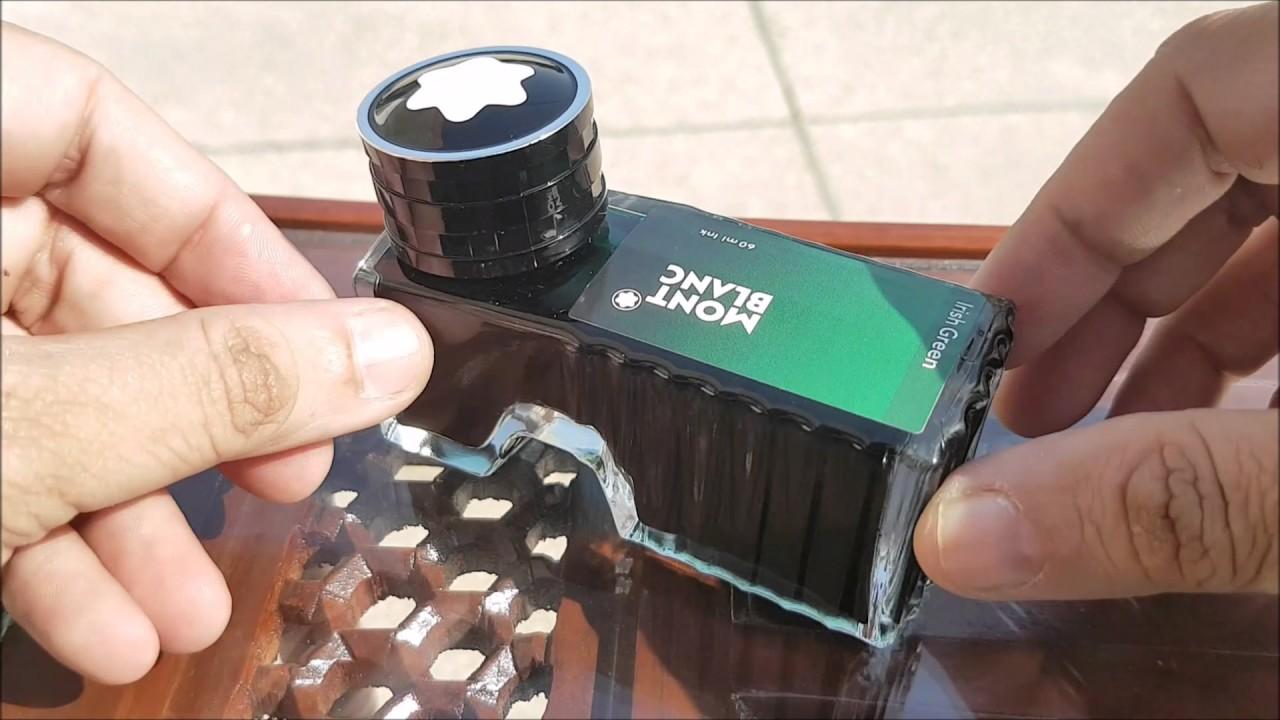montblanc irish green ink bottle 60ml unboxing youtube