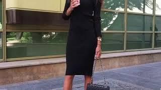 видео С чем носить платье лапшу осенью, с какой обувью