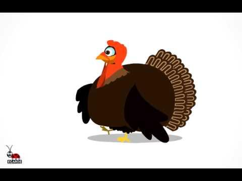 Funny Animated Greeting E-card. Turkey Life .