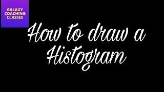 How to draw a histogram ll NCERT CBSE class 9 class 8 maths ch 14 statistics data handling