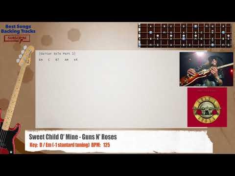 Sweet Child O' Mine – Guns N' Roses Bass Backing Track with chords and lyrics