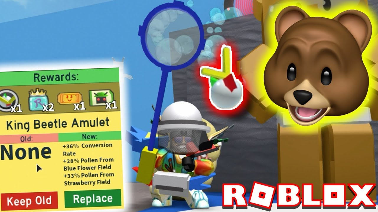 Destroying King Beetle Tunnel Bear And Ants In Roblox Bee Swarm King Beetle Amulet Beat Tunnel Bear Roblox Bee Swarm Simulator Youtube