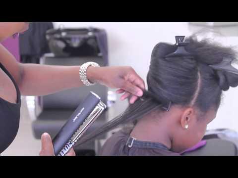 Silk Press on Natural Hair at EbonyB Salon